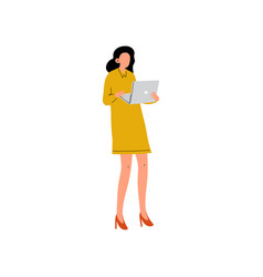 businesswoman or office worker standing with vector image
