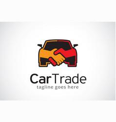 Car trade logo template design vector