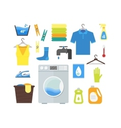 Cartoon Laundry Set vector