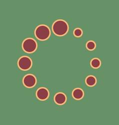 circular loading sign cordovan icon and vector image