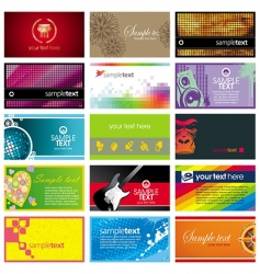 collection of horizontal business card vector image
