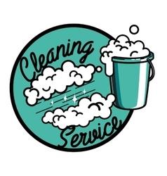 Color vintage cleaning service emblem vector