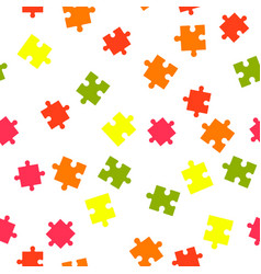 colorful puzzle seamless background pattern vector image