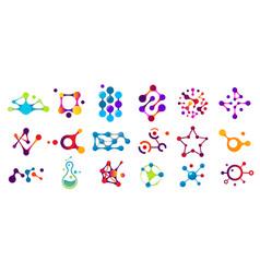 connected molecules molecule connection model vector image
