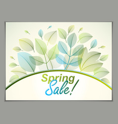 design horizontal banner with spring typing logo vector image