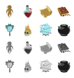 Design witchcraft and mystic symbol vector