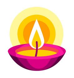 diwali oil lamp deepavali vector image