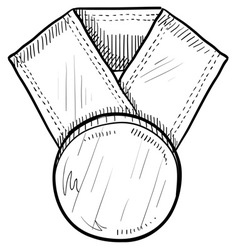 doodle award medal vector image