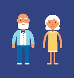 Elderly couple Generations and family concept vector image