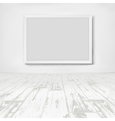 Empty white room with frame picture vector