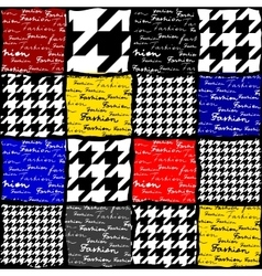 Fashion background with houndstooth pattern vector