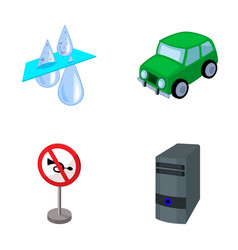 Filter car and other web icon in cartoon style vector