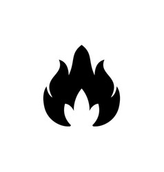 fire or flame glyph icon vector image