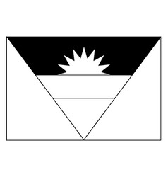 flag of antigua and barbuda 2009 vintage vector image
