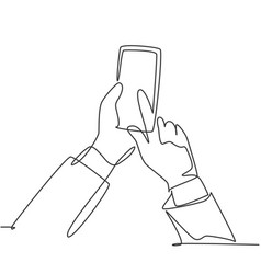gadget device concept one continuous line drawing vector image