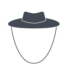 Garden or cowboy hat isolated vector