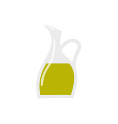 glass bottle of premium virgin olive oil icon vector image