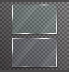 glass frame plate reflection display transparent vector image