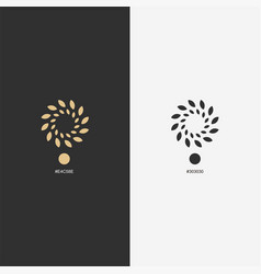 gold flower logo design ready to use for your vector image
