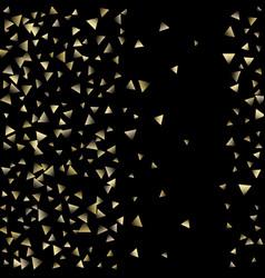 Golden falling confetti triangles vector