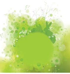Green background rabbit vector