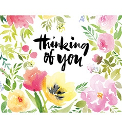 Greeting card with tulips vector image