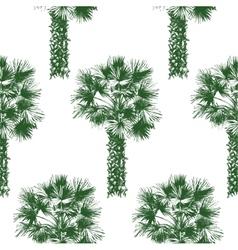 Hand drawn palm tree seamless vector