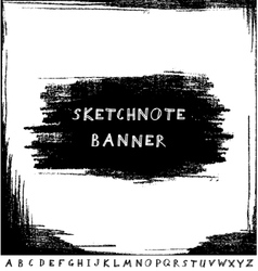 Hand drawn sketchnote banner with alphabet vector image