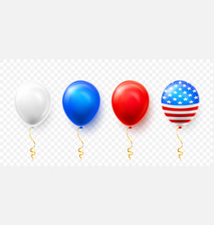 helium balloons with american flag isolate on vector image