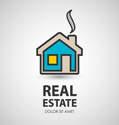 house icon Real estate vector image