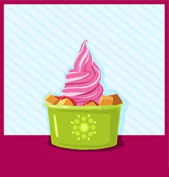 ice-cream berries and fruits vector image
