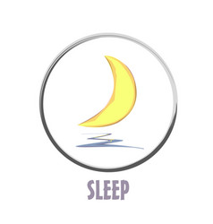 icon basic sleep under the moon shard vector image