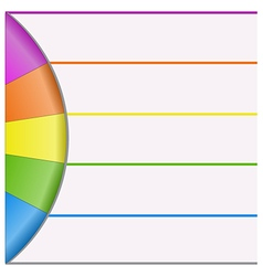 infographics strips and colorful semicircle vector image