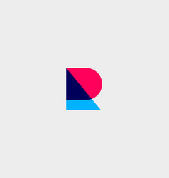 letter r logotype colorful overlay icon vector image