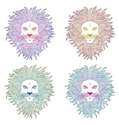 Lion Face2 vector