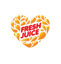 logo for fresh juice on white vector image