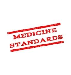 Medicine Standards Watermark Stamp vector image