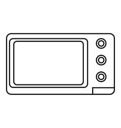 Microwave icon outline style vector