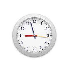 Modern round clock clock arable numerals watch vector