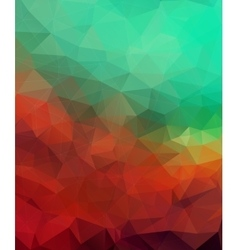 Multicolor triangle mosaic background vector image