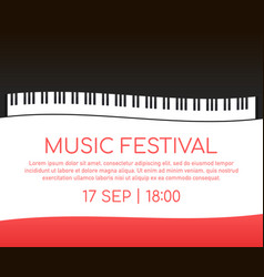 Music festival music event poster piano jazz vector