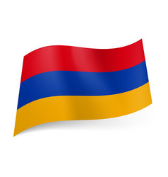 national flag of armenia red blue and yellow vector image