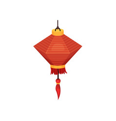 oriental paper street or house lantern decorative vector image