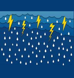 paper rain creative template vector image