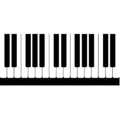Pattern from black and white piano keys vector