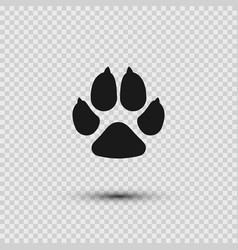 pets paw dog footprint flat icon vector image