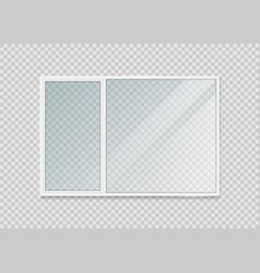 plastic window isolated on background vector image