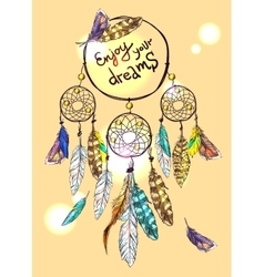 Poster dream catcher vector