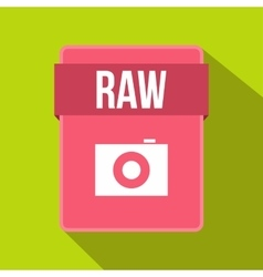 RAW file icon flat style vector image