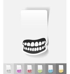Realistic design element jaw vector